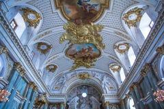 Πόλη Stocholm, Σουηδία Παλαιό παλάτι και εσωτερικό Τοίχος και εικόνα στοκ εικόνες με δικαίωμα ελεύθερης χρήσης