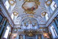 Πόλη Stocholm, Σουηδία Παλαιό παλάτι και εσωτερικό Τοίχος και εικόνα στοκ εικόνες