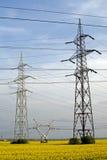 πόλοι ηλεκτρικής ενέργε&iot Στοκ Φωτογραφία