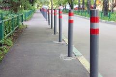 Πόλοι χώρων στάθμευσης στην οδό Στοκ εικόνα με δικαίωμα ελεύθερης χρήσης