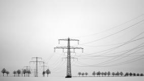 Πόλος ισχύος στο χειμώνα Στοκ Φωτογραφία
