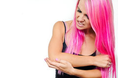 Πόνος αγκώνων Στοκ εικόνα με δικαίωμα ελεύθερης χρήσης