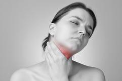 Πόνος λαιμού Στοκ Εικόνες