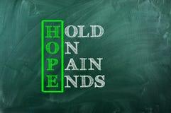 Πόνος ελπίδας στοκ εικόνες με δικαίωμα ελεύθερης χρήσης