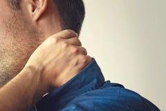 πόνος λαιμών ατόμων στοκ φωτογραφίες
