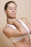 πόνος λαιμών Στοκ εικόνες με δικαίωμα ελεύθερης χρήσης