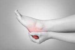 Πόνος ποδιών Στοκ εικόνα με δικαίωμα ελεύθερης χρήσης