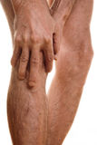 Πόνος σε ένα γόνατο στοκ εικόνα