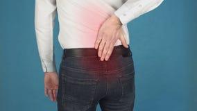 Πόνος στη σπονδυλική στήλη, επίσης γνωστός ως σπονδυλική στήλη ή σπονδυλική στήλη, radiculitis έννοια λόγω της μακροπρόθεσμης εργ απόθεμα βίντεο
