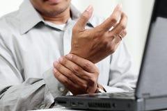 Πόνος χεριών Στοκ φωτογραφίες με δικαίωμα ελεύθερης χρήσης