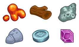 Πόροι για το διανυσματικό σύνολο εικονιδίων παιχνιδιών διανυσματική απεικόνιση