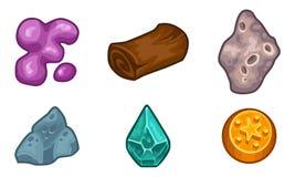 Πόροι για το διανυσματικό σύνολο εικονιδίων παιχνιδιών απεικόνιση αποθεμάτων