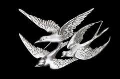 πόρπη τρία πουλιών τρύγος Στοκ Φωτογραφίες