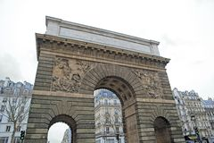 Πόρτα Άγιος-Martin (Παρίσι Γαλλία). Στοκ φωτογραφίες με δικαίωμα ελεύθερης χρήσης