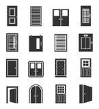 Πόρτα ένα εικονίδιο Στοκ εικόνες με δικαίωμα ελεύθερης χρήσης