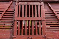 Πόρτα αυτοκινήτων κιβωτίων ζωικού κεφαλαίου σιδηροδρόμου στοκ εικόνα