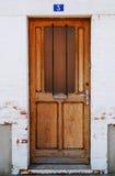 πόρτα Γαλλία ξύλινη Στοκ Φωτογραφίες