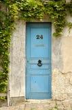 πόρτα Γαλλία ξύλινη Στοκ Εικόνα