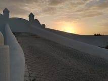 Πόρτα εισόδων με το ηλιοβασίλεμα Ericeira Πορτογαλία στοκ φωτογραφίες με δικαίωμα ελεύθερης χρήσης