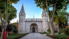 Πόρτα εισόδων στο παλάτι Topkapi στη Ιστανμπούλ Τουρκία Στοκ φωτογραφίες με δικαίωμα ελεύθερης χρήσης