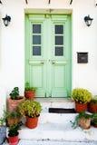 πόρτα ελληνικά Στοκ φωτογραφία με δικαίωμα ελεύθερης χρήσης