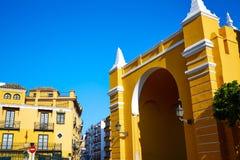 Πόρτα Ισπανία της Σεβίλης Puerta de Λα Macarena Arch Στοκ εικόνα με δικαίωμα ελεύθερης χρήσης