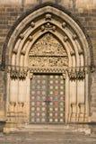 πόρτα καθεδρικών ναών vysehrad στοκ εικόνες
