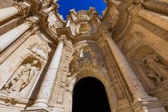 Πόρτα καθεδρικών ναών της Βαλένθια στο plaza de Λα Reina Στοκ εικόνα με δικαίωμα ελεύθερης χρήσης