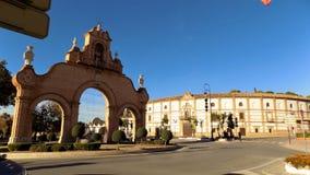 Πόρτα και αρένα ταυρομαχίας antequera-Ανδαλουσία-Ισπανία de Estepa Στοκ Φωτογραφίες