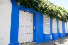 Πόρτα και παράθυρα στην Καρχηδόνα, Κολομβία Στοκ Φωτογραφία