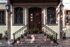 Πόρτα και σπίτι σε Plovdiv στοκ εικόνα με δικαίωμα ελεύθερης χρήσης
