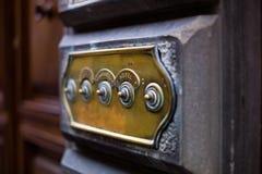 πόρτα κουδουνιών παλαιά Στοκ Φωτογραφία
