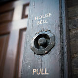 πόρτα κουδουνιών παλαιά Στοκ Εικόνα