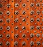 πόρτα λεπτομέρειας ξύλινη Στοκ Φωτογραφία