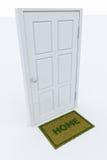 Πόρτα με ένα χαλί 'ΟΙΚΩΏΝ απεικόνιση αποθεμάτων