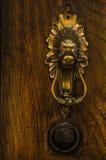 Πόρτα με τα ρόπτρα ορείχαλκου με μορφή ενός lion& x27 κεφάλι του s, όμορφο Στοκ φωτογραφία με δικαίωμα ελεύθερης χρήσης