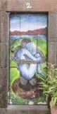 Πόρτα με την τέχνη οδών στοκ εικόνες