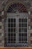 Πόρτα με τη σχάρα σιδήρου Στοκ Φωτογραφίες