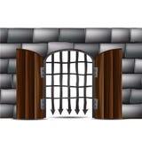 Πόρτα με τους φραγμούς Στοκ εικόνα με δικαίωμα ελεύθερης χρήσης