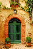 πόρτα παλαιά Τοσκάνη στοκ εικόνες