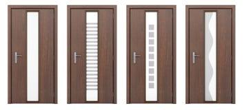 Πόρτα που απομονώνεται ξύλινη στο λευκό Στοκ εικόνα με δικαίωμα ελεύθερης χρήσης
