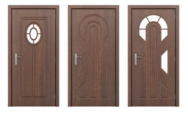 Πόρτα που απομονώνεται ξύλινη στο λευκό Στοκ φωτογραφίες με δικαίωμα ελεύθερης χρήσης