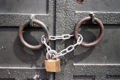 πόρτα που κλειδώνεται Στοκ Φωτογραφίες