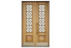 Πόρτα σε ένα άσπρο υπόβαθρο στοκ εικόνες