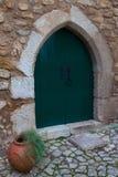 Πόρτα σε Obidos, Πορτογαλία. Στοκ Φωτογραφία