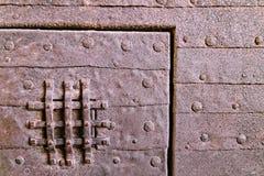 πόρτα σκουριασμένη Στοκ εικόνα με δικαίωμα ελεύθερης χρήσης
