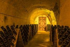 Πόρτα σπηλιών Taittinger σπιτιών CHAMPAGNE Στοκ εικόνα με δικαίωμα ελεύθερης χρήσης