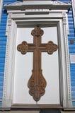 Πόρτα στην εκκλησία Druskininkai, Λιθουανία Στοκ φωτογραφία με δικαίωμα ελεύθερης χρήσης