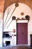 Πόρτα στην κουζίνα Pommard Στοκ φωτογραφία με δικαίωμα ελεύθερης χρήσης