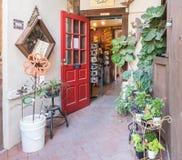 Πόρτα στο παλαιό κτήριο πόλης Artisans, περιοχή EL Presidio, Τ Στοκ εικόνες με δικαίωμα ελεύθερης χρήσης